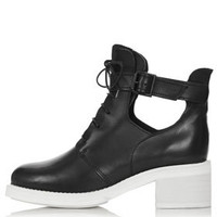 AFTERSHOCK Cutout Lace-Up Boots -   - We Love