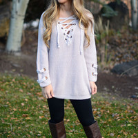 Path Less Traveled Sweater- Blush