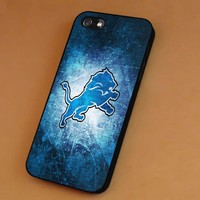 Detroit Lion in Blue Galaxy iPhone 6s 6 6s+ 5c 5s Cases Samsung Galaxy s5 s6 Edge+ NOTE 5 4 3 #quote sp