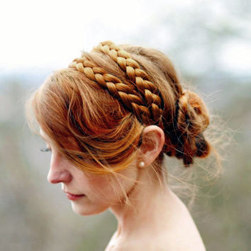 EXPRESS shipping special request for shannonnumber41 wide double strand hair braided headband bridal braid plait plaited