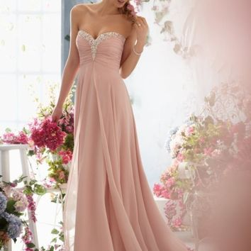 New Long Chiffon Bridesmaid Evening Formal Party Ball Gown Prom Dress size 6-16