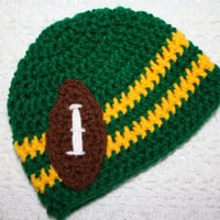 Football Beanie NB, 0-3 mo or 3-6 mo Baby Shower Gift, Infant, Perfect Photo Prop You Choose Colors