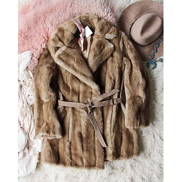 Vintage Lux 70's Faux Fur Coat