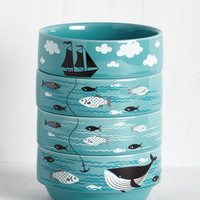 Swell Sea-soned Bowl Set | Mod Retro Vintage Kitchen | ModCloth.com