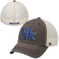 '47 Brand Kentucky Wildcats Caprock Canyon Flex Hat - Charcoal/White