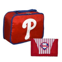 Philadelphia Phillies MLB Back To School Lunch Bag and Wallet Set