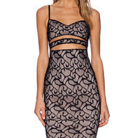 Nookie Liberty Lace Bustier Dress in Black