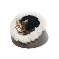PAW Feline Cat Comfort Cavern Pet Bed - Silver