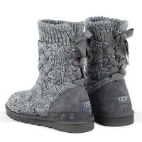 DCCK8X2 UGG' female fashion wool snow boots wool shoes Grey