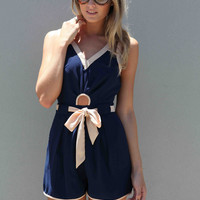 CONTRAST PLAYSUIT , DRESSES, TOPS, BOTTOMS, JACKETS & JUMPERS, ACCESSORIES, 50% OFF SALE, PRE ORDER, NEW ARRIVALS, PLAYSUIT, COLOUR, GIFT VOUCHER,,Blue,CUT OUT,JUMPSUIT,SLEEVELESS Australia, Queensland, Brisbane