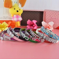 Personalized Bling charm Dog/Puppy Collar