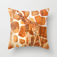 Camouflage giraffe, animal skin, safari art, giraffe, giraffe art, cute animal art, nursery animals Throw Pillow by Eastwitching | Society6