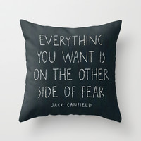 I. The other side of fear. Throw Pillow by Zyanya Lorenzo
