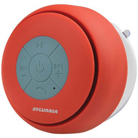Sylvania Bluetooth Suction Cup Shower Speaker (red)