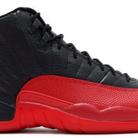 Jordan 12 Flu Game 2016 Black and Varsity Red