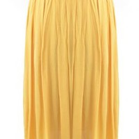 Proper Introduction Belted Pleat Midi Skirt in Mustard | Sincerely Sweet Boutique