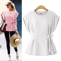 Women's Trending Popular Fashion 2016 Summer Beach Holiday Sleeveless Strappy Solid Casual Party Playsuit Clubwear Bodycon Boho Top Shrit T-Shirt T-Shirt _ 5063