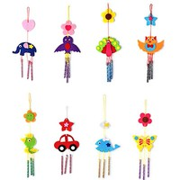 Kids DIY Puzzle Toys for Children Kids Campanula Wind Chime Kids Manual Arts Crafts Hanging Kits Puzzles Kids Baby Toys Random