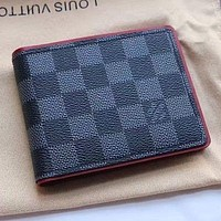Lv Louis Vuitton Men'S Damier Graphite Canvas Wallet