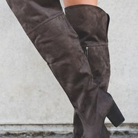 Sugar Land Over The Knee Boots (Charcoal)
