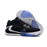Nike Zoom Greek Freak 1 Giannis Antetokounmpo Black White Basketball Shoes - Best Deal Online