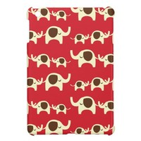 Good luck elephants cherry red cute nature pattern case for the iPad mini from Zazzle.com