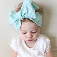 Cute Baby Girl Cloth Headband Bow hair ribbon bow Girl Headwrap Rabbit Ears Bow Elastic Hair Band