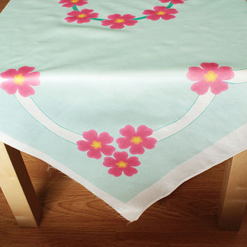 Personalized Wild Rose Pattern Fabric With Name and Date for Wedding Decorations , Centerpieces , Tablecoths , etc with custom colors