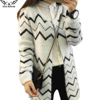 2016 high quality fall and winter Female cardigan women sweater Knitted Cotton O-Neck Leisure cardigans  women's sweaters