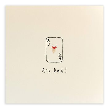 Father's Day 'Ace Dad' Pencil Shavings Card