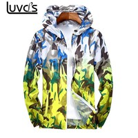 Trendy LUVCLS Camouflage Jacket Lovers Men Women Camo Hooded Wind Jacket Jackets Military Canvas Jacket  Anti-sun Clothes Plus Size AT_94_13