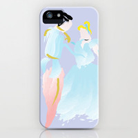 Disney - Cinderella and Prince Charming iPhone Case by Jessica Slater Design & Illustration
