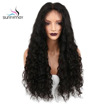 Sunnymay Curly Lace Front Human Hair Wigs 130% Density With Baby Hair Pre Plucked Brazilian Remy For Black Women