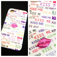 Kiss Me Again Studded Case IPhone 4 4S Lips by LivingYoungDesigns