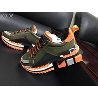 New Dolce& Gabbana Women Men Fashion Green Orange Casual Sports Shoes