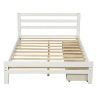 Full Size Bed Frame with Storage, Bed Frame with Drawers