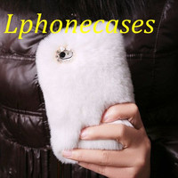 iPhone 5 Case, iPod Touch 5 Case, White Luxury Genuine Rabbit Fur iPhone 4s Case, Custom iPhone 5S Case, HTC one Case, Galaxy s4 Galaxy s3