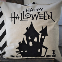 Haunted House Pillow Cover
