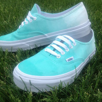 Custom ombre mint vans available in any color  by YourUniqueSole