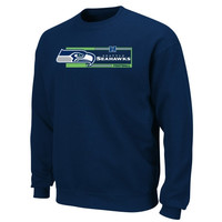Seattle Seahawks Critical Victory VII Crew Sweatshirt - College Navy