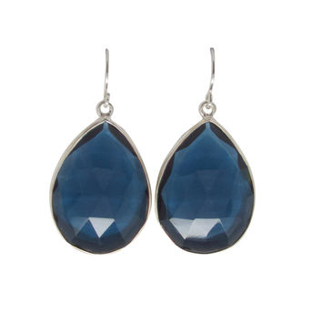 Royal Blue Quartz Drop Earrings