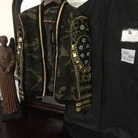 Balmain Jacket '2XL' (Crystals And Beads Hand Stitched onto Jacket!) Must See!