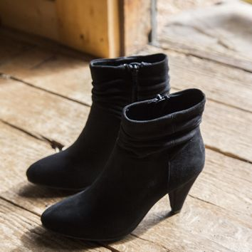 Nanda Suede Ankle Boot, Black | CL by Chinese Laundry
