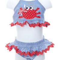 Funtasia Too Baby Girl Happy Crab Two Piece Swimsuit