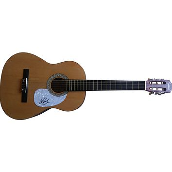Chris Lane Autographed Full Size 39 Inch Country Music Acoustic Guitar, Proof Photo