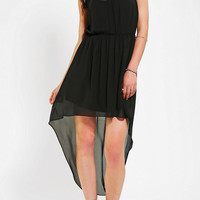 Urban Outfitters - Sparkle & Fade Button-Front High/Low Shirtdress