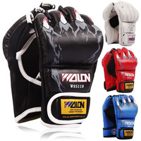 New MMA UFC Sparring Grappling Boxing Fight Punch Ultimate Mitts Leather Gloves = 1932726212