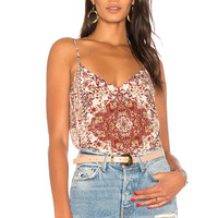 L'AGENCE Jane Cami Top in Rhubarb Multi