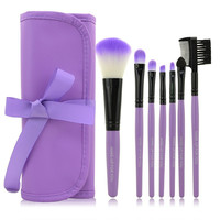 Professional 7 pcs Makeup Brush Set (Violet)