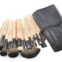 Outop 24pcs Professional Cosmetic Makeup Brush Set with Bag